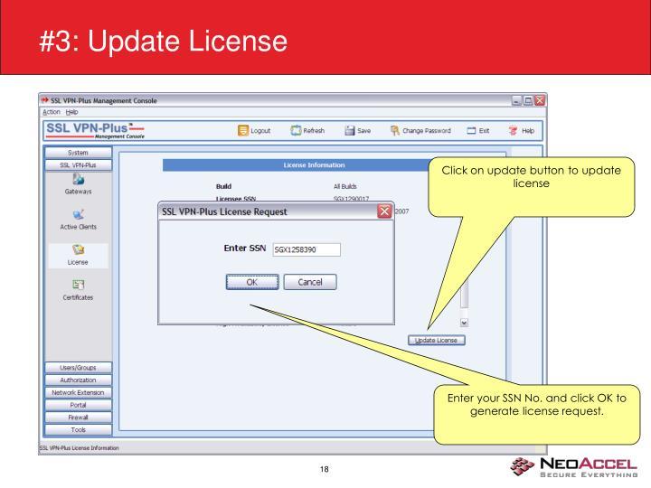 #3: Update License