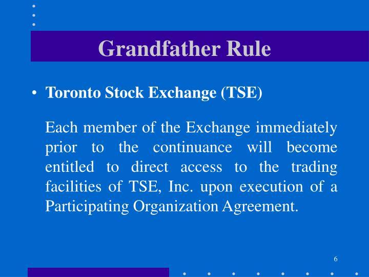 Grandfather Rule