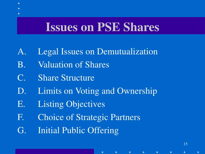 Issues on PSE Shares