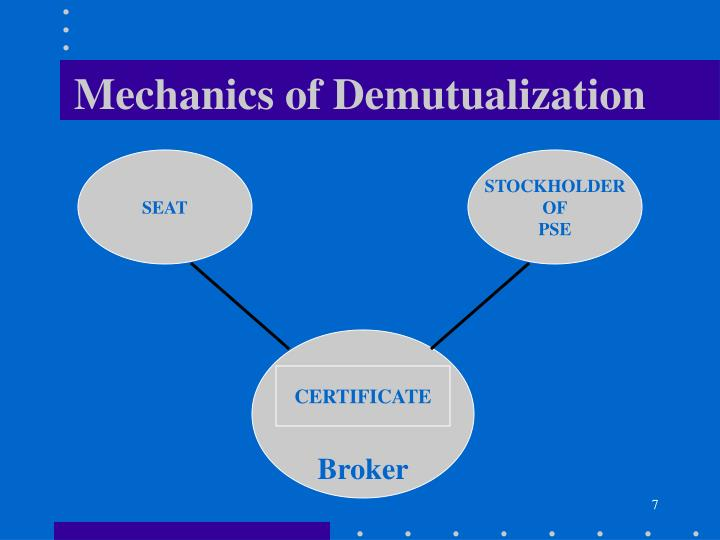 Mechanics of Demutualization