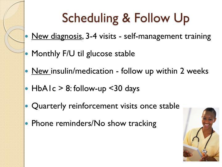 Scheduling & Follow Up