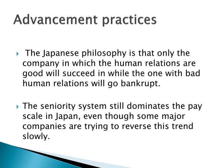 Advancement practices