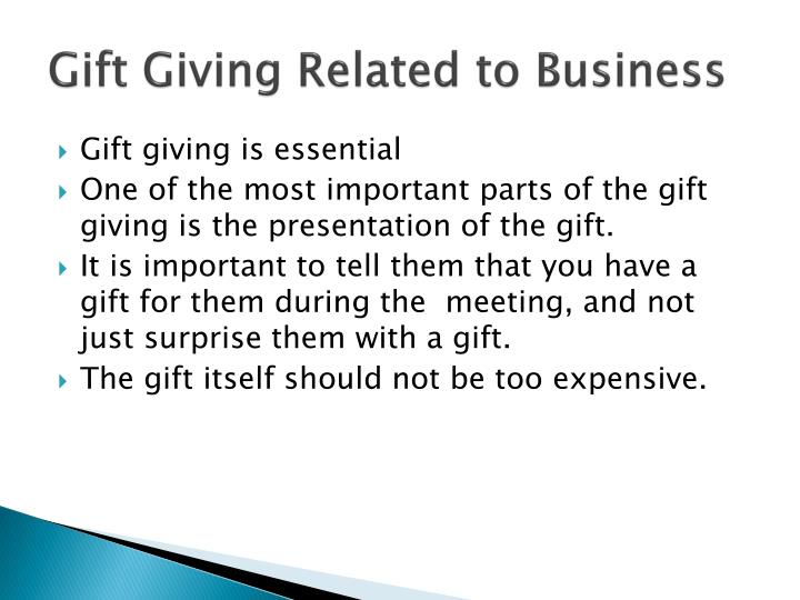 Gift Giving Related to Business