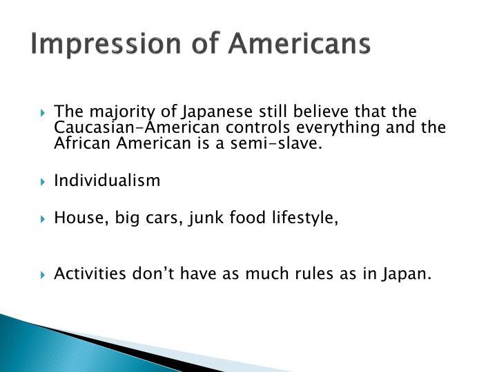 Impression of Americans