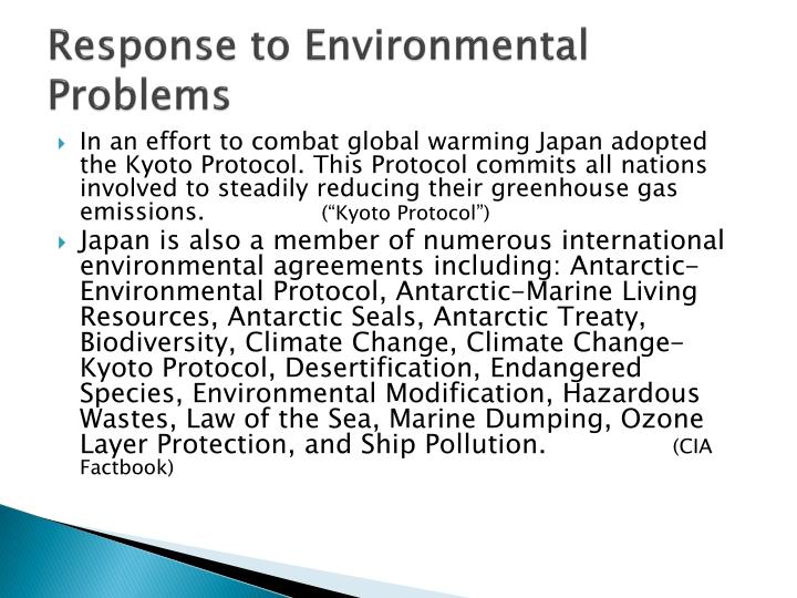 Response to Environmental Problems