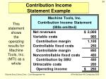 contribution income statement example