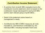 contribution income statement
