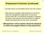 employment contracts continued1