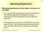 marketing departments