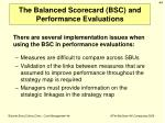 the balanced scorecard bsc and performance evaluations