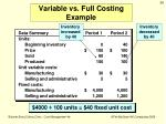 variable vs full costing example