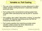 variable vs full costing