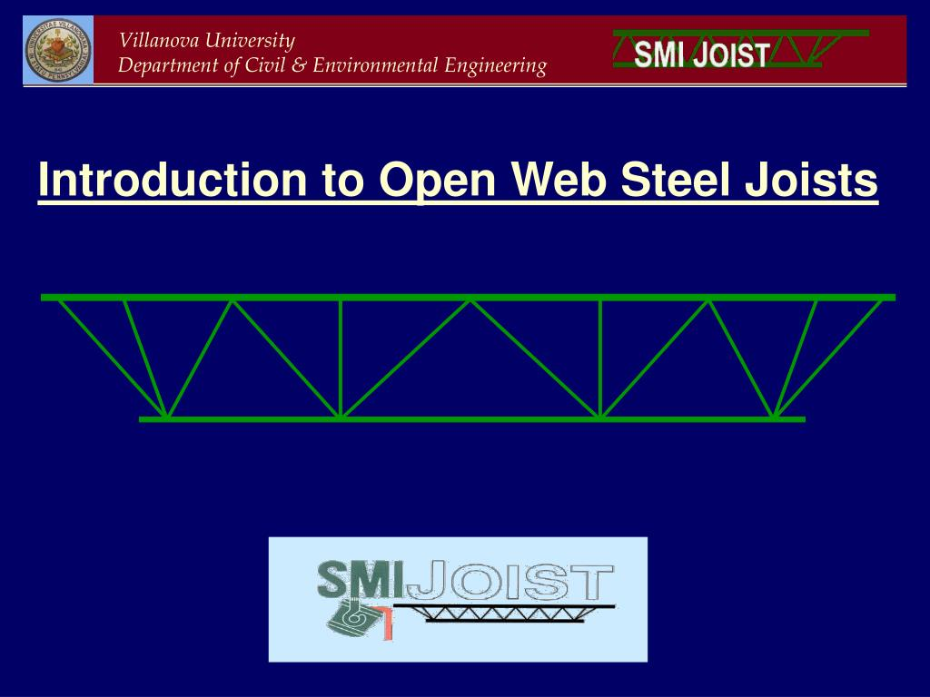 Ppt Introduction To Open Web Steel Joists Powerpoint Presentation