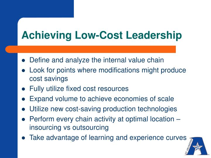 Achieving Low-Cost Leadership
