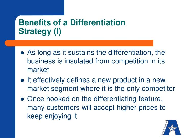 Benefits of a Differentiation