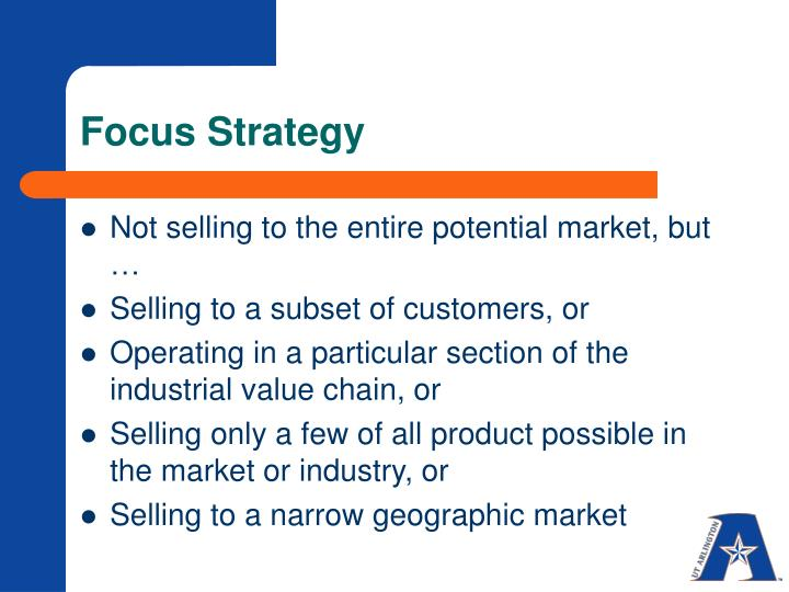 Focus Strategy