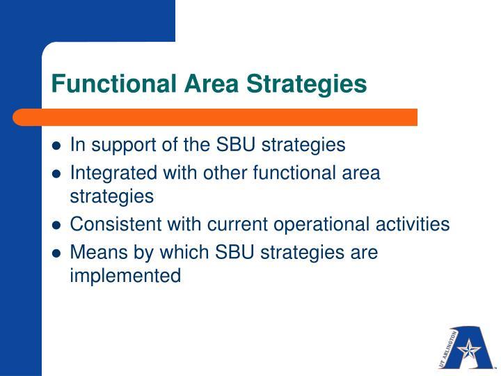Functional Area Strategies