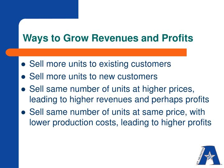Ways to Grow Revenues and Profits