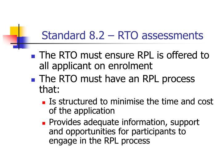 Standard 8 2 rto assessments
