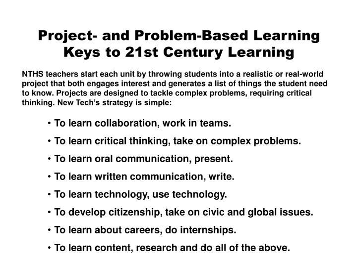 Project- and Problem-Based Learning