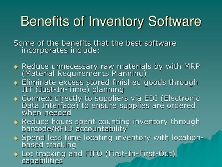 Benefits of Inventory Software