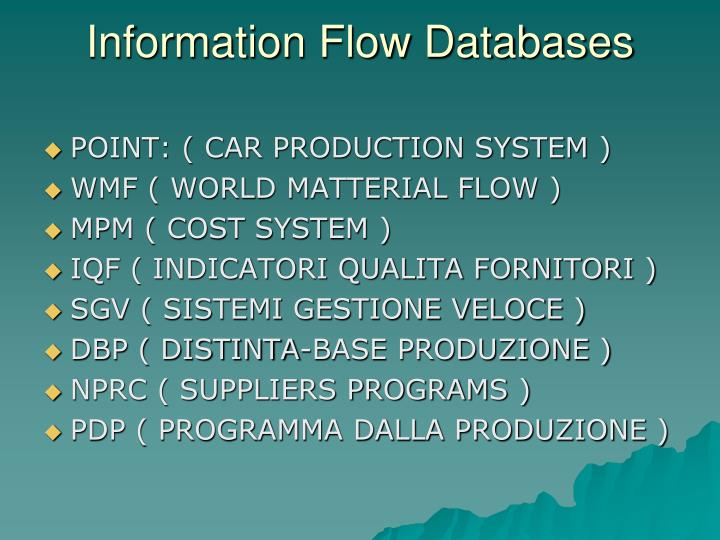 Information Flow Databases