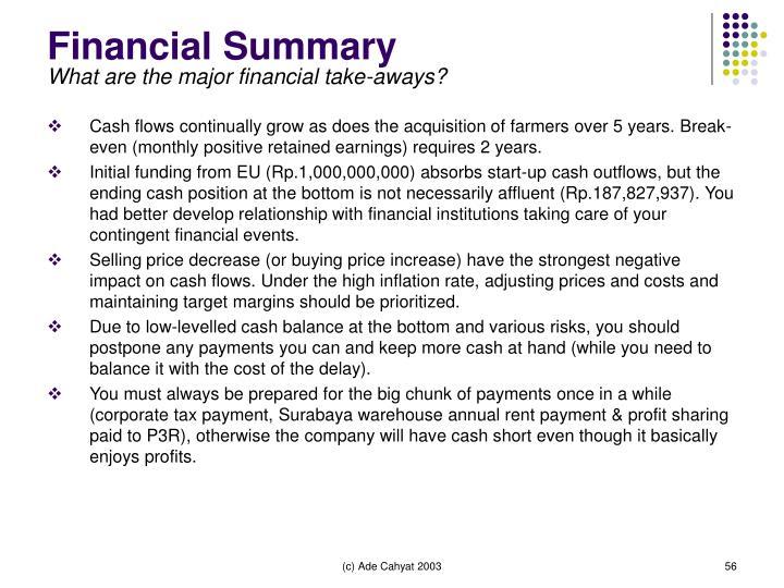 Financial Summary
