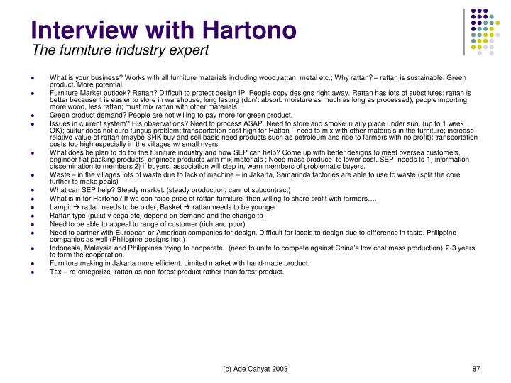 Interview with Hartono