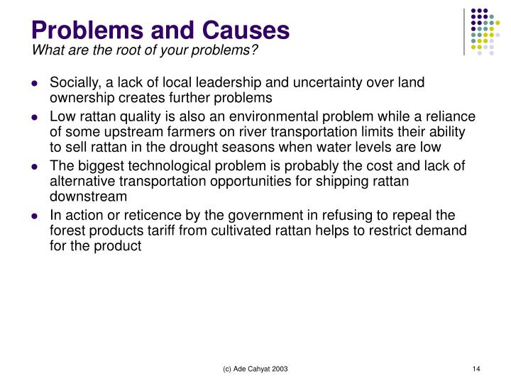 Problems and Causes