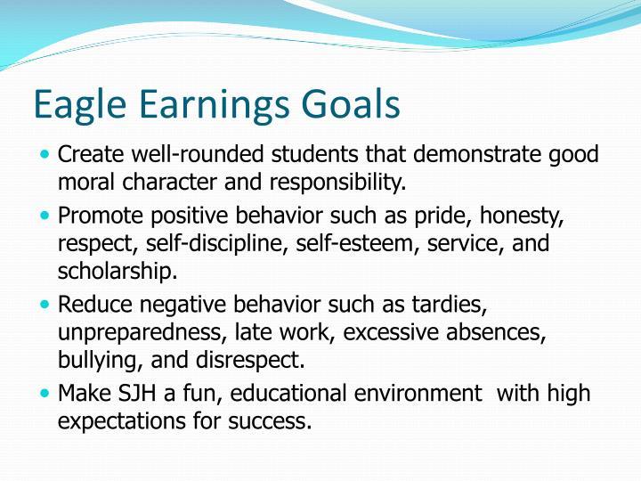 Eagle earnings goals