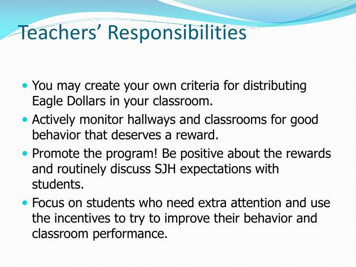 Teachers' Responsibilities