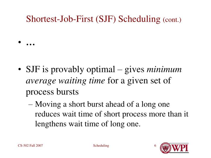 Shortest-Job-First (SJF) Scheduling