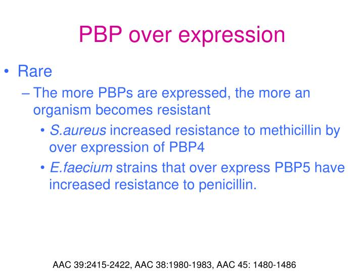 PBP over expression