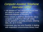 computer assisted telephone interview cati