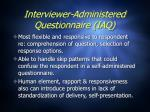 interviewer administered questionnaire iaq