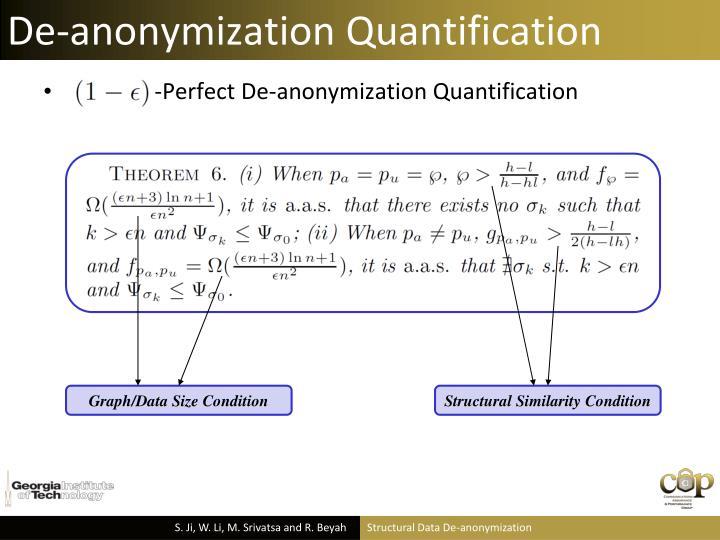 De-anonymization Quantification