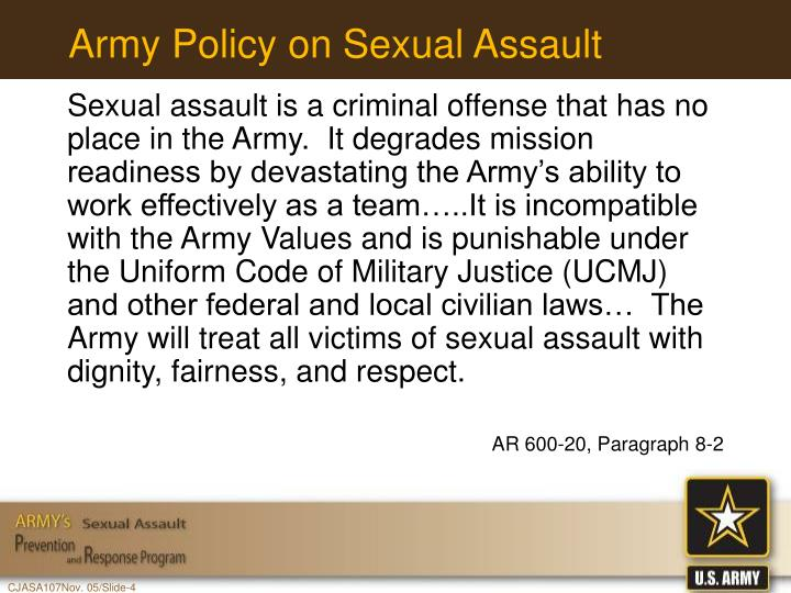 Army Policy on Sexual Assault