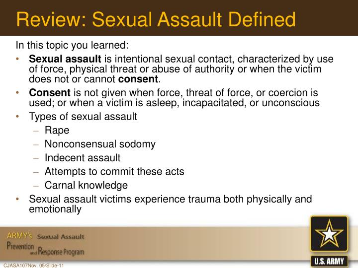 Review: Sexual Assault Defined