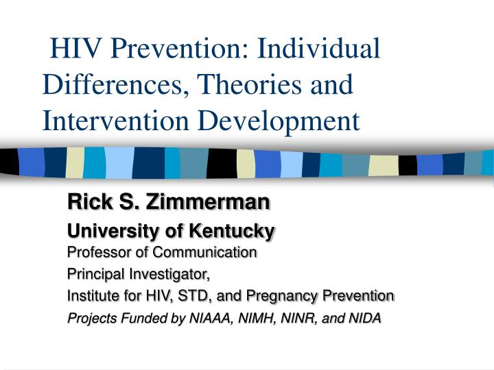 Hiv prevention individual differences theories and intervention development