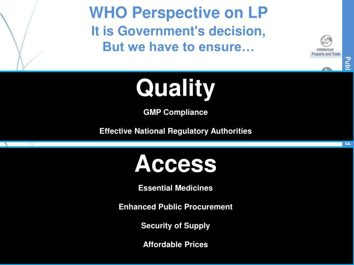 WHO Perspective on LP