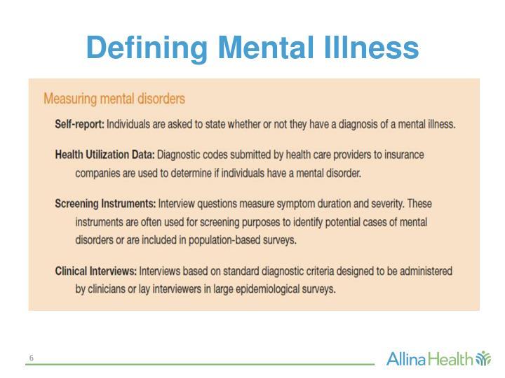 Defining Mental Illness