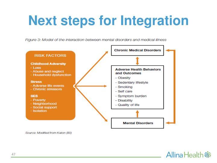 Next steps for Integration