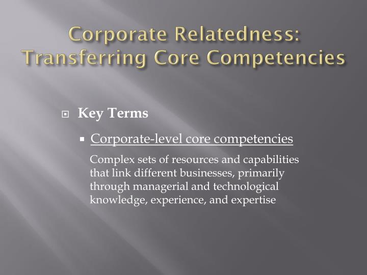 Corporate Relatedness: