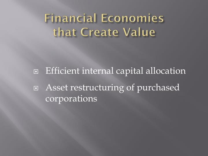 Financial Economies