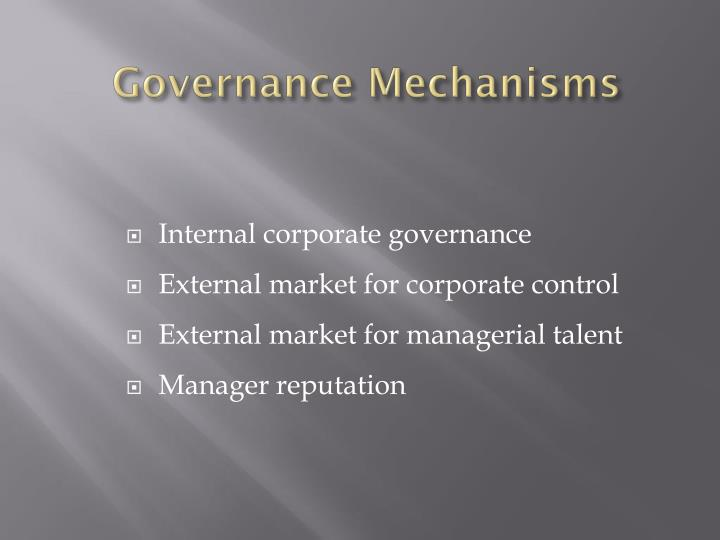 Governance Mechanisms