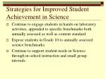 strategies for improved student achievement in science
