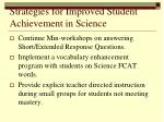 strategies for improved student achievement in science2