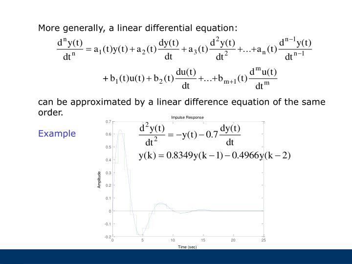 More generally, a linear differential equation: