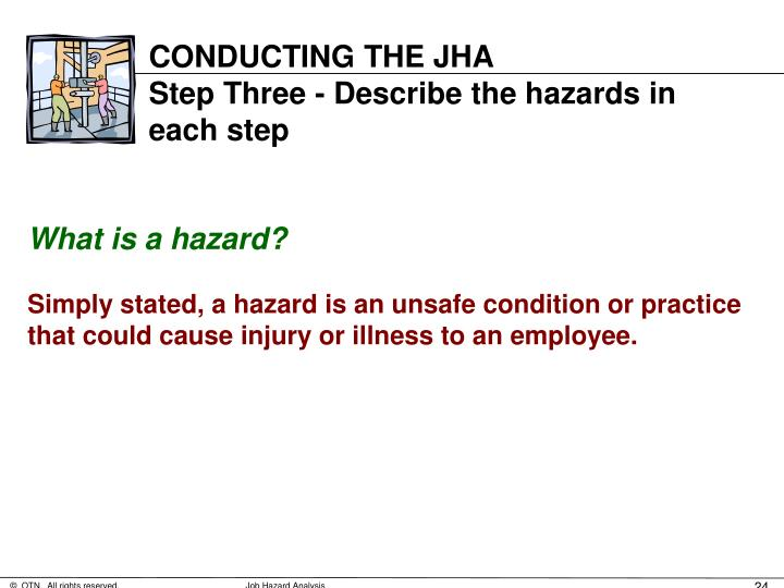 CONDUCTING THE JHA