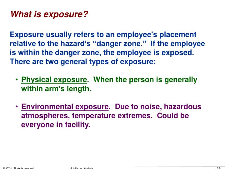 What is exposure?